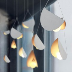 White glider pendant light chandelier