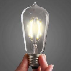 Classic Edison Light Bulb ST64 4W LED Filament (3 or 6 pack)