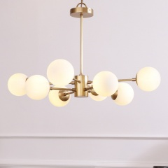 Modern 6-Light Karrington Chandelier Sputnik Chandelier with Glass Spheres