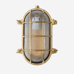 IP54 rated. Nautilus Oval Outdoor and Bathroom Wall Light