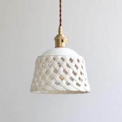 Openwork ceramic lamp