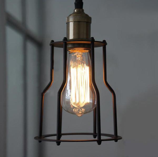 Single Head Industrial Wire Cage Pendant Light