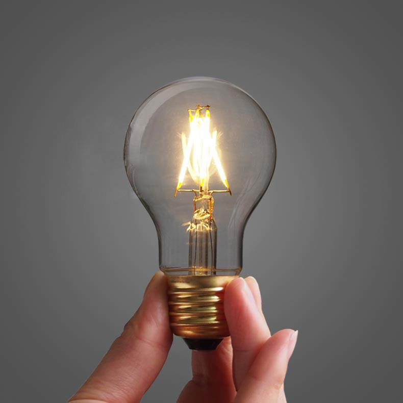 Classic Edison Light Bulb A19 4W LED (3 or 6 pack)