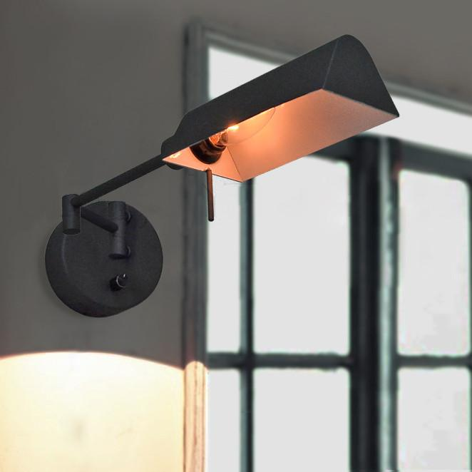 Brooklyn Black Industrial Wall Light