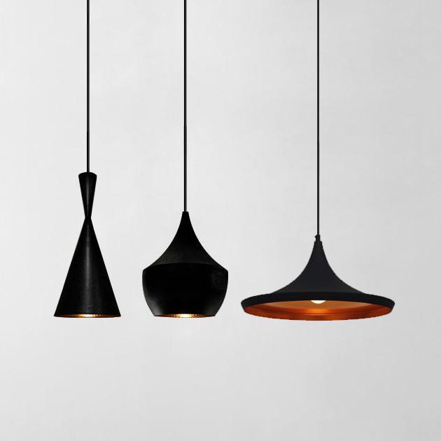 Modern Beat Black Pendant Light