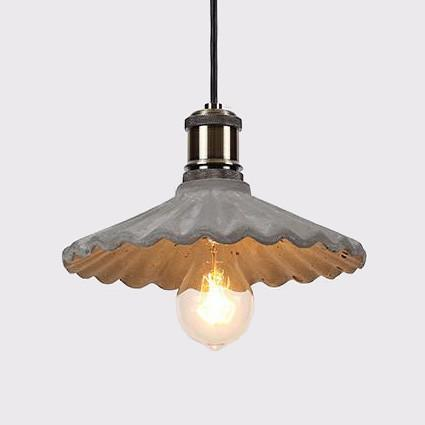 Presto Concrete Fluted Pendant Light