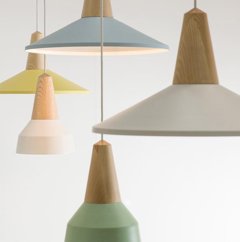 LundLund Minimalist Scandinavian Wooden Pendant Light