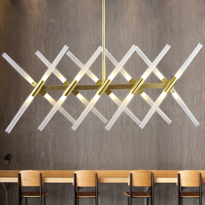 LED 20-lights Chandelier Light Symmetrical Forms Modern Style