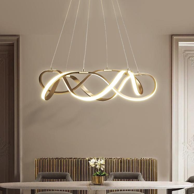 Modern Style Draped Ribbon LED Chandelier
