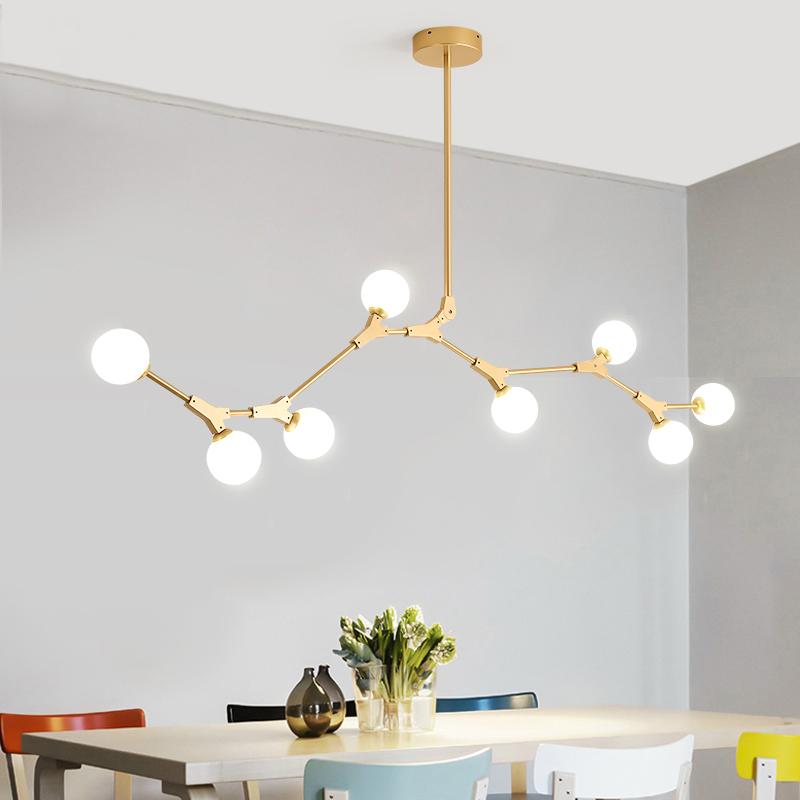 Contemporary Organic Branching 8 Light Chandelier