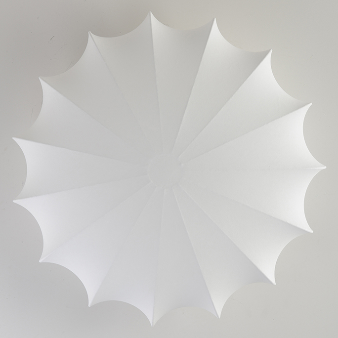 Flush Mount Ceiling Lamp with Soft White Silk Shade