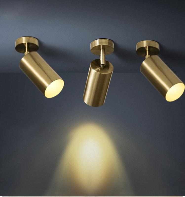 Mid Century Modern 1 Light LED Brass Ceiling Light Spot Light