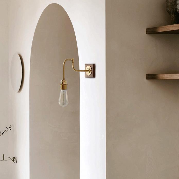 Ogilvy Wood Brass Wall Light