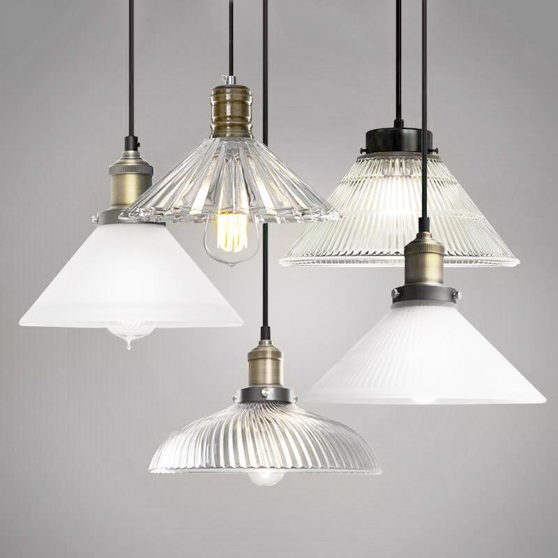 Fluted glass pendant light