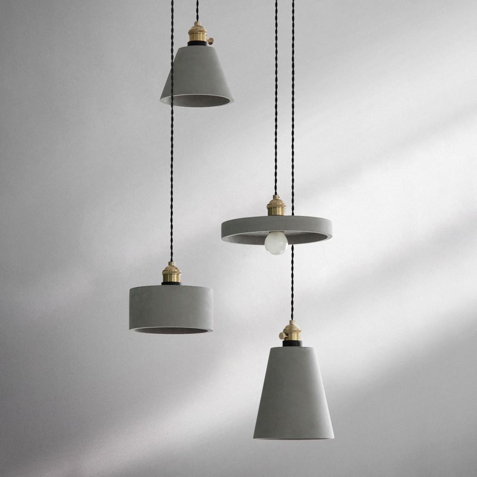 Concrete Vasa Minimalist Pendant Light