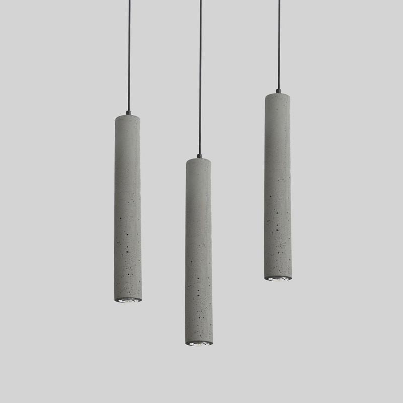 Long Concrete Pipe Pendant Light