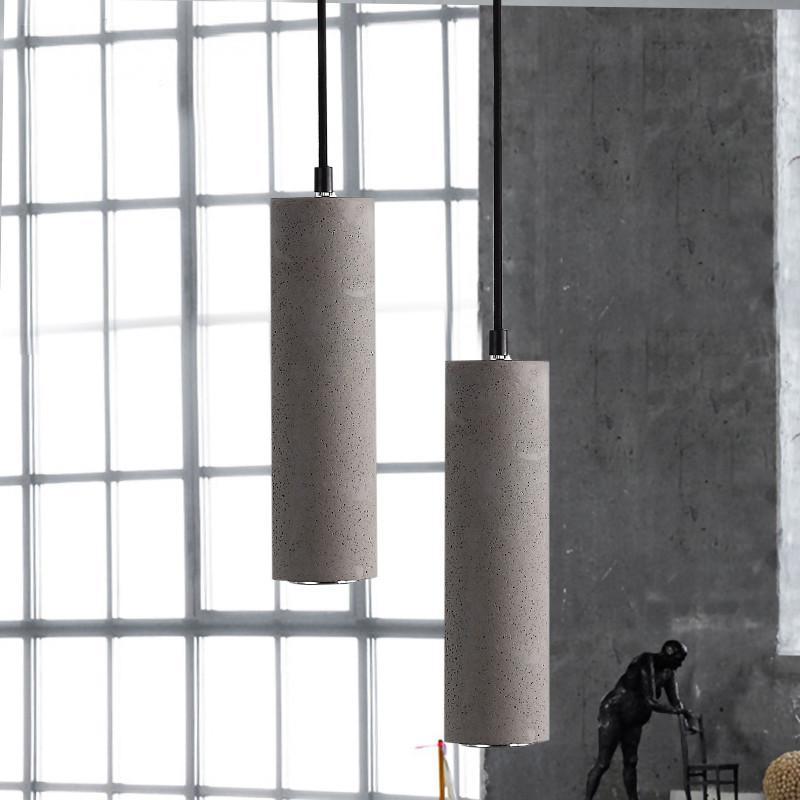 Concrete Pipe Pendant Light