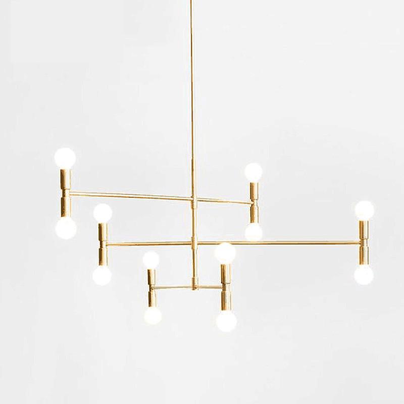 ARQ branch chandelier - 3 lines (12 heads)