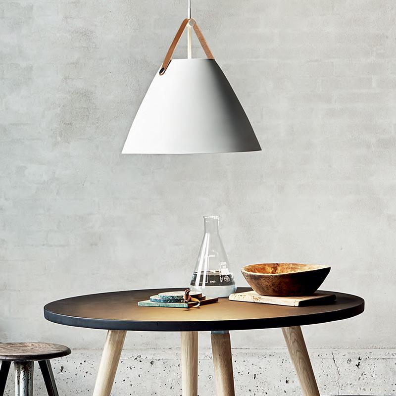 Leather Strap Suspension Minimalist Pendant Ceiling Light