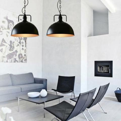 Semi Circle Dome Industrial Loft Pendant Ceiling Light