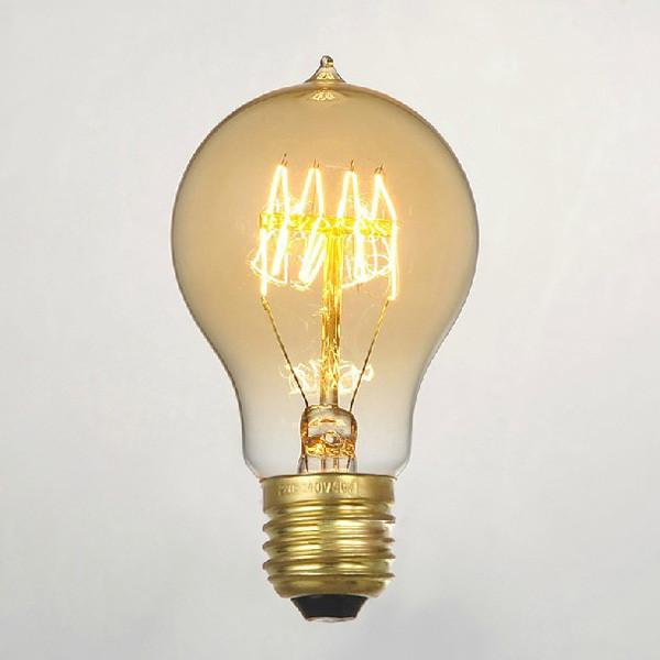 A19 Edison Filament Lightbulb 60W - Classic Tungsten Incandescent