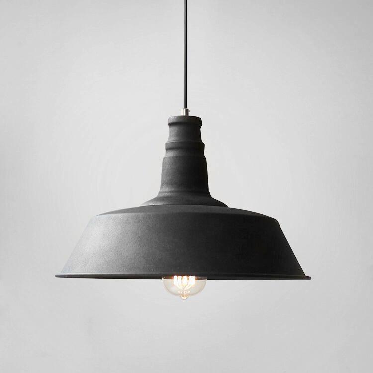 Retro Industrial Pendant Light In Black