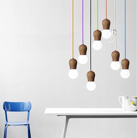 Wooden Socket Minimalist Pendant Light