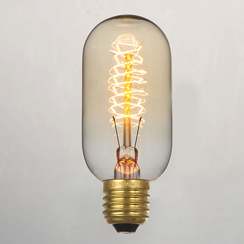T45 Bulk lot of edison style short pencil 40W filament light bulbs (3 or 6 pack)